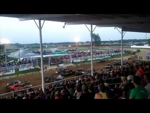 Demolition derby in jerseyville, Illinois 2016