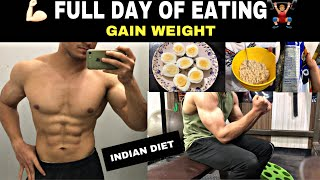FULL DAY OF EATING BULKING DIET I Indian Bodybuilding I Weight & Muscle Gain for students