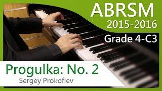 [青苗琴行] ABRSM Piano 2015-2016 Grade 4 C3 Sergey Prokofiev Progulka: No. 2