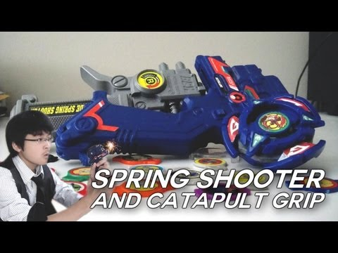 ~Bey-Reviews: A-4 Spring Shooter + #42 FAKE Catapult Grip Review