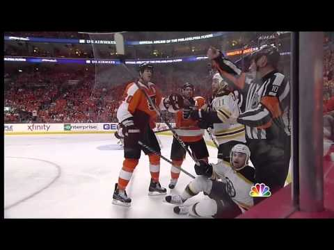 Latest Chapter In The Cheap Undisciplined Hockey Life Of Chris Pronger (video)
