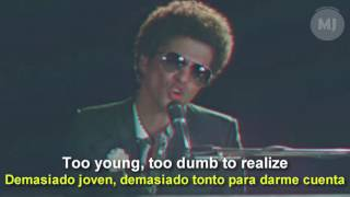 Download Lagu Letra Traducida de la canción When I was your man de Bruno Mars Gratis STAFABAND