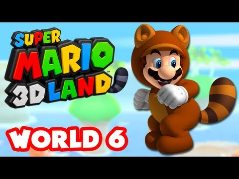 Super Mario 3D Land - World 6 (Nintendo 3DS Gameplay Walkthrough)