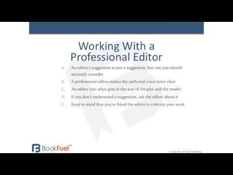 What to expect when working with a professional editor