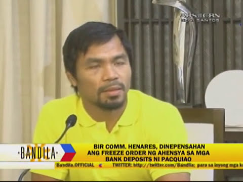 Why BIR issued warrant on Pacquiao's bank accounts
