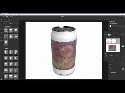 Adobe Dimension 2020 - 25 Export UVs (in English)