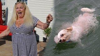 DROWNING DOG PRANK ON GRANDMOM