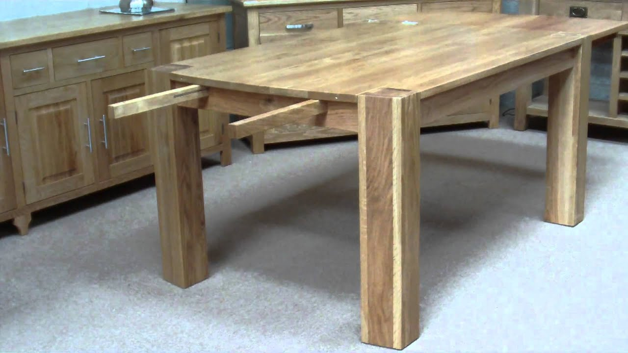 How To Extend A Side Extension Table Youtube