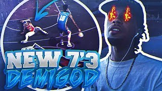 THIS 7'3 STRETCH BIG IS A GLITCH 😱 HE'S BREAKING ANKLES & HITTING CONTESTED GREEN 3s | NBA 2K18