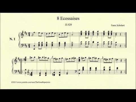 Шуберт Франц - Works for piano solo D.529  3 Ecossaises