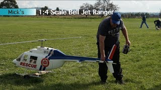 Biggest RC Helicopter 1/4 Scale - Bell 206 Jet Ranger