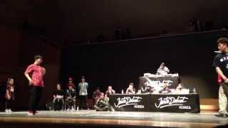 JUSTE DEBOUT KOREA 2014 TOP8 Hiphop side - Quarter Final 1 LILDI & LAMUT