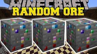 Minecraft: RANDOM ORE MOD (LUCKY ORE THAT CRAFTS UNBELIEVABLE ITEMS!) Mod Showcase