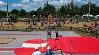 Caroline Poirier clears personal best 3.70m to win bronze and Candian U20 Championships