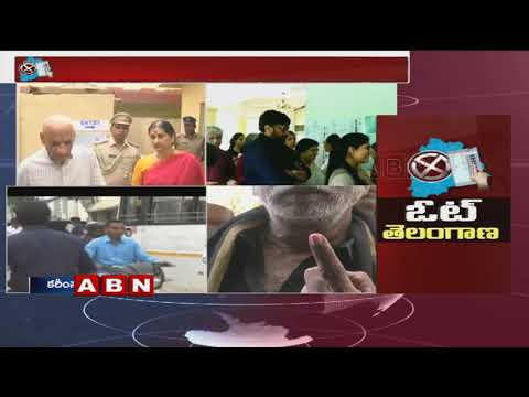 ఓటేసిన గవర్నర్ దంపతులు | Governor Narasimhan casts his Vote | Telangana Elections 2018 | ABN Telugu