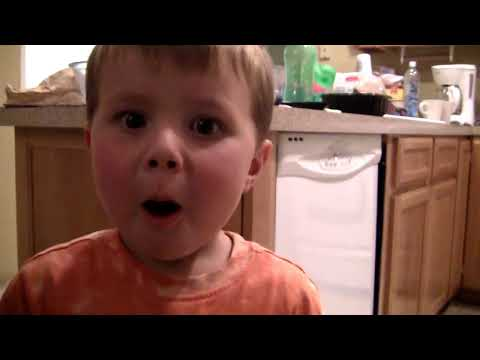 3 Year Old Eating Atomic Warhead Candy