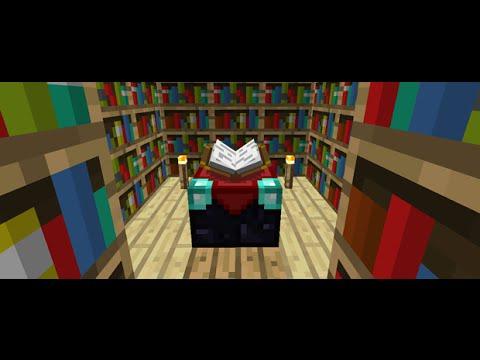 Minecraft 1.8.9 - Como fazer Mesa de Encantamentos e Estante de Livros