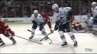 Alex Burrows cut by skate 11/30/14