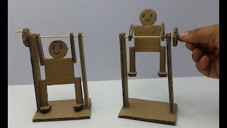 How to make an exercising man out of cardboard - Toys for Children