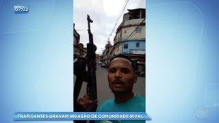 Traficantes gravam invasão em comunidade rival no Rio de Janeiro