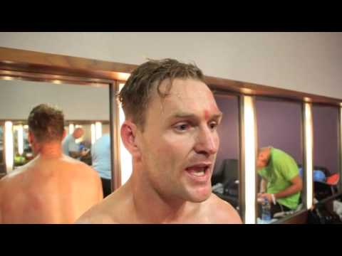 CRUISERWEIGHT DAVID McGUIRE STOPS MORRIS INSIDE TWO ROUNDS IN DUBLIN - POST FIGHT INTERVIEW
