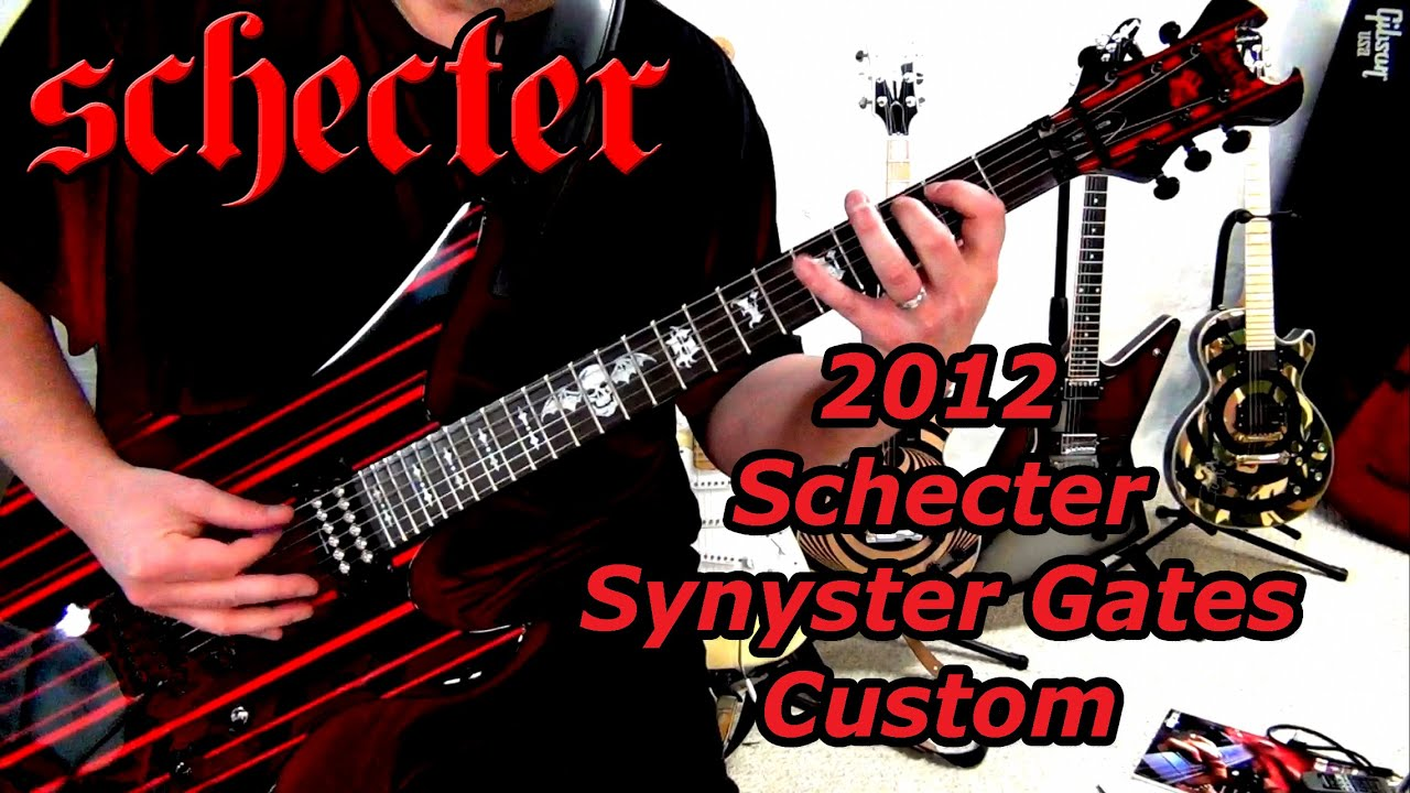 Synyster Gates Custom Gold Schecter Synyster Gates Custom