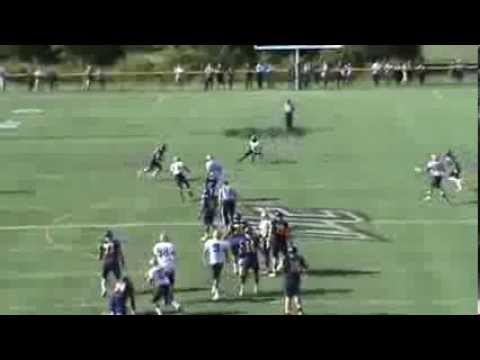 Joe Clancy, quarterback at Merrimack College, 2012 highlights. Redshirt junior. 323-510 and 3945 yards, all Northeast-10 Conference records, and a school rec...
