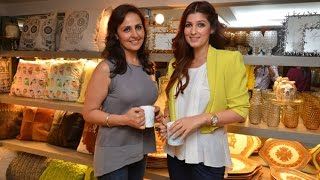 Twinkle Khanna At Sanvari And Anjori Alagh's Store Launch│Houseproud