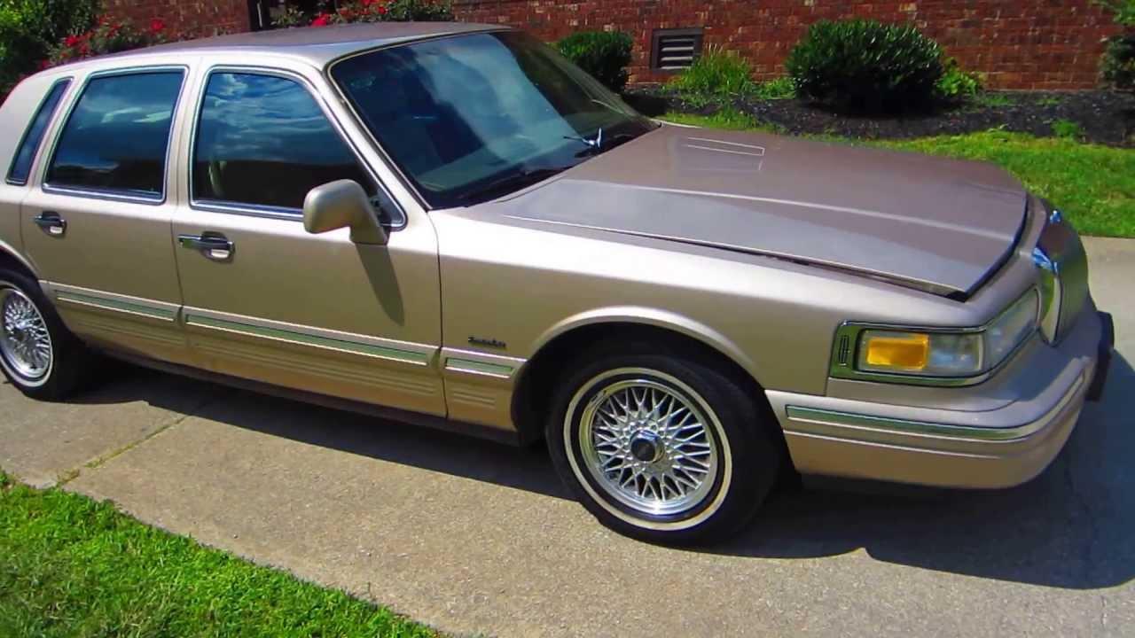 1997 Lincoln Town Car 4 6l V8 Gold 4 Door Executive Series Sedan Lexington Ky Youtube