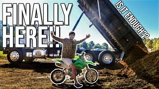 Building INSANE Pit Bike Track in my BACKYARD! *Epic Crash*