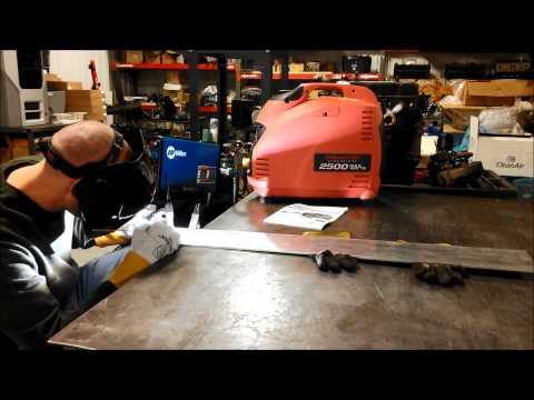 Predator 2500W Generator Powering Tig Welder