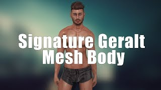 Signature Geralt Male Mesh Body in Second Life