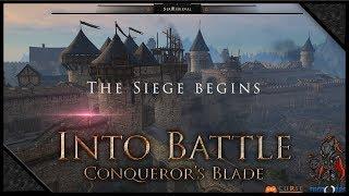 CONQUEROR'S BLADE - Attack & Defense Siege PVP 🔰Uncrowned & Crimson Blades (1080p) 60FPS