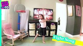 [6 years old Yuna's Dance Video] [Kids Bop Kids_Fight Song] [Ballet/Free Dance]