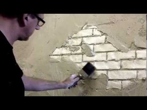 Faux Brick Wall Creative Painting Techniques Youtube