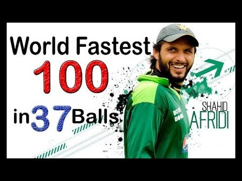 Shahid Afridi W.record 100 Off 37 Balls - Cric Chamber video