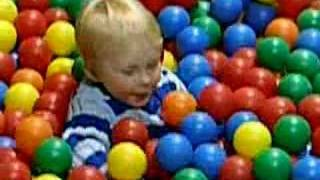 JJ in the ball pit