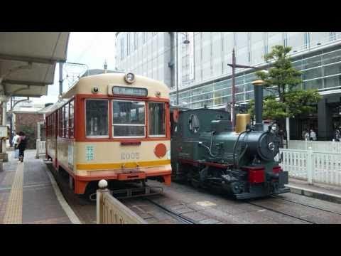伊予鉄道 坊っちゃん列車 車内展望ビデオ(道後温泉⇒松山市駅前)[Wide]