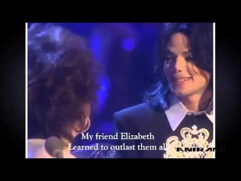 Michael Jackson - Elizabeth, I Love You [Lyrics on Screen]