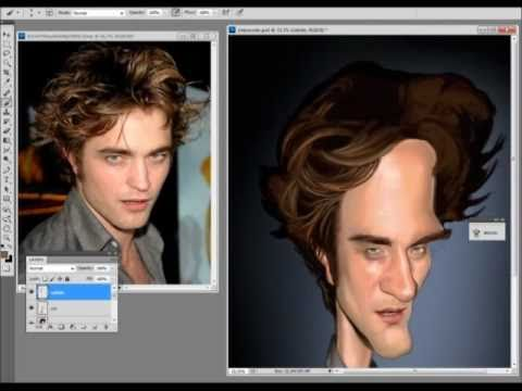 Speed Paint - Caricatura Robert Pattinson por Eder Galdino