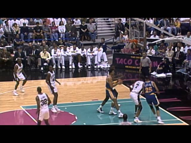 Tim Hardaway Leads the Warriors Past David Robinson's Spurs on Opening Night - League Pass Look Back