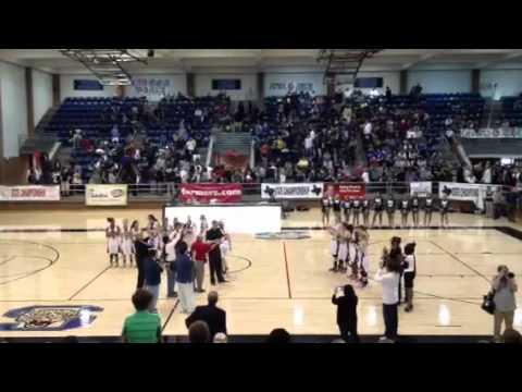 Ursuline Academy of Dallas receives state championship meda - 03/19/2012