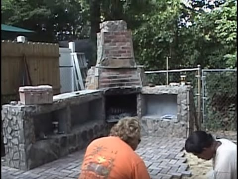 Construction of my outdoor fireplace youtube