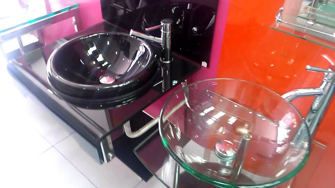 Muebles para bano en vidrio 3125012019 youtube for Muebles de bano completos
