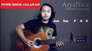 Chord Gampang (Kusimpan Rindu Di Hati - PUNK ROCK JALANAN) Arya Nara (Tutorial Gitar) Untuk Pemula