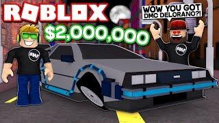 MY BRAND NEW $2,000,000 DMC DELORANO in ROBLOX VEHICLE SIMULATOR | DRAG RACES | CAR STUNTS