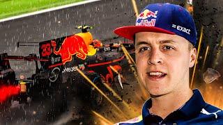 MIJN EERSTE F1 RACE IN DE REGEN...