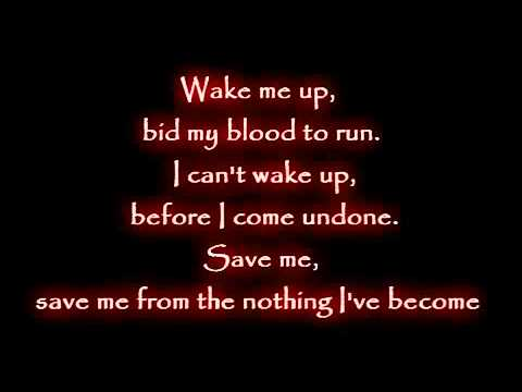 Evanescence - Wake Me Up Inside [lyrics].mp4 video