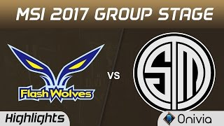 FW vs TSM Highlights MSI 2017 Group Stage Flash Wolves vs Team Solo Mid by Onivia
