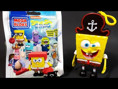 MEGA BLOKS SpongeBob Squarepants Nickelodeon blind bag surprise Series 1
